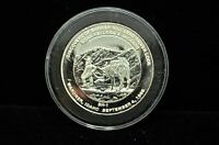 DISCOVERY OF BUNKER HILL LEAD-SILVER LODE .9995 SILVER ART ROUND 1 TROY OUNCE