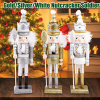 42CM Wooden Nutcracker Soldier Handcraft Walnut Puppet Toy Gift Christmas   !*