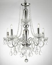 ELEGANT 5 LIGHTS CRYSTAL CHANDELIER LIGHTING FIXTURE PENDANT CEILING LAMP