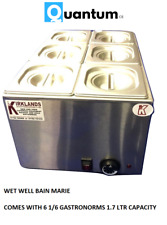 More details for quantum ce ® wet well bain marie hot food sauce warmer inc 1/6 gastronorm & lid