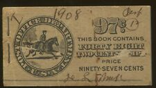 1908 US Stamp #332a BK25 Mint Never Hinged Booklet Pane of 6 Complete Book