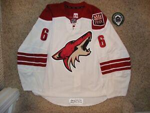Phoenix Coyotes # 6 David Schlemko 12/13 Set 1 Away Game Worn Jersey LOA