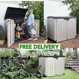 Keter Store It Out Max 5x4ft Wheelie Bin Garden Storage Shed 1200L(2-Yr Guarante
