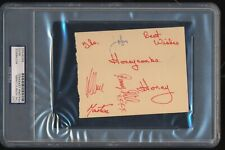 The Honeycombs and early 60's Graham Nash Signed Autographs PSA/DNA HOF CSNY