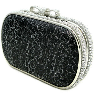 small box clutch bag bridal bag elegant diamond decorated wedding bridesmaid bag