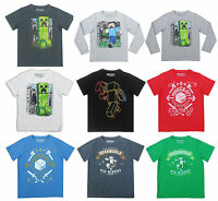 Boys Kids Official Licensed Minecraft Short Long Sleeve T Tee Shirt Top / Hoodie