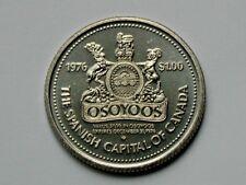 Osoyoos BC CANADA 1976 Trade DOLLAR Token with Mount Baldy Downhill Ski Area