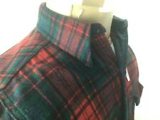 Vintage Woolrich Jacket Plaid Green Red Button Up Mens Large Wool Coat