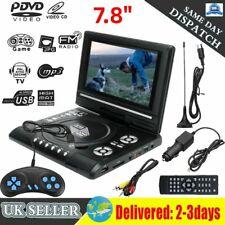 "Portable TV DVD EVD Player 16:9 LCD 270° 7.8"" HD Swivel Screen + Game Joystick"