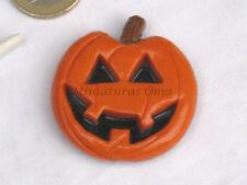 Broche de calabaza Halloween en fimo artesanía NOVEDAD