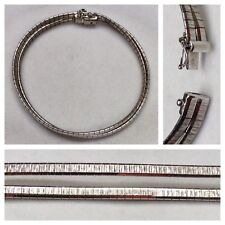 Elegante Bracciale 835er argento argento gioielli a fila doppia Argento Bracciale 18 cm