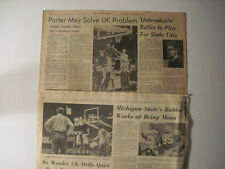 Louisville Courier Journal, 1966. Two Kentucly Wildcats, Adolph Rupp Colums! UK