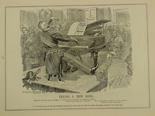 PUNCH cartoon 1903 /p378 TRYING A NEW SONG german navy imperial chancellor piano