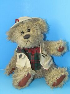 """Pickford Bears """"Tanner the Bear of Health"""" Outdoorsy Dressed Plush 9"""" L@@K"""