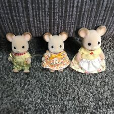 Sylvanian Families Calico Critters Field Mouse Family Rare Figures Mice Epoch