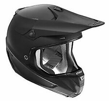 Thor Racing Verge Matte Mens Dirt Bike Motocross Helmets - Matte Black - Large
