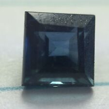 0.80 ct untreated Natural Princess-cut Greenish-Blue VS Sapphire (Africa)