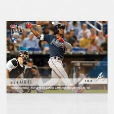 2018 TOPPS NOW #194 OZZIE ALBIES YOUNGEST BRAVES GRAND SLAM SINCE '97