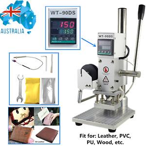 Hot Foil Stamping Machine Embossing Logo Leather WoodLabel Bronzing Machine AU