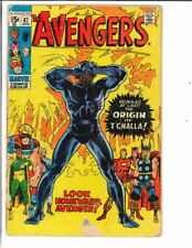 The Avengers #87 Origin of Black Panther T'Challa 1971 Key