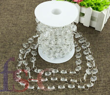30FT Acrylic Garland Diamond Crystal Bead Chandelier Wedding Hanging Decoration
