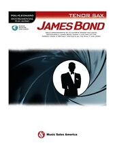 Play-Along JAMES BOND Tenor Saxophone Learn to Play SAX MUSIC BOOK Online Audio