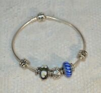 Sterling Silver Pandora Charm Bracelet with Charms
