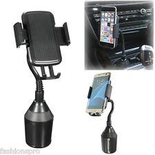 Universal Adjustable Gooseneck Cup Holder Cradle Car Mount For Cell Phone