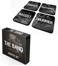 The Band Drummer/Singer/Bassist Set Of 4 COASTER /DRINKS MAT BY PYRAMID CSP0008