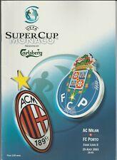Orig.PRG   UEFA Super Cup 2003  FINALE  AC MAILAND - FC PORTO  !!  SELTEN