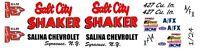 Salt City Shaker NOVA Salina Chevrolet 1/25th - 1/24th Scale Waterslide Decals