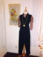 Vintage 1970's Green and Black Buffalo Check Vest n Pant Suit w/Blouse Sz Xs - S