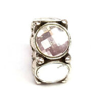 Authentic Brighton Roundabout Bead, Clear Stones, J96432, New