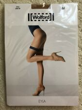 NEW WOLFORD EYLA Stay-Up Thigh-Highs Sahara / Ecrue Size M Medium