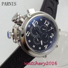 50mm PARNIS Schwarz dial Herrenuhren Date Automatisch movement Uhr men's Watches