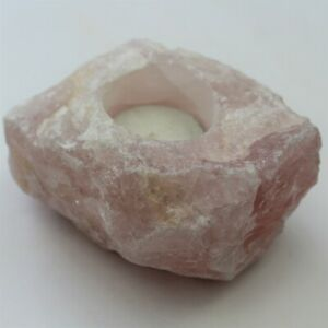 Rose Quartz  Candle Holder  from South Africa