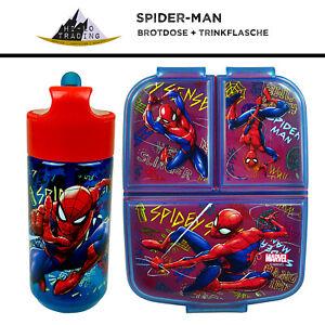 Marvel Avengers Spiderman Brotdose Spider-Man Trinkflasche, Kindergarten Schule