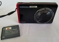 Samsung DualView TL220 12.2MP Digital Camera - Red *GOOD/Tested*