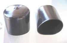 "4 Pk - 1 5/8"" Black Vinyl Round End Cap 1.625 Rubber Cover Pipe Tubing Stopper"