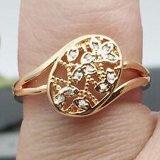 Pretty Wedding Jewelry Pretty Women/Girls Ring 18k  Gold Plated Ring Size 6