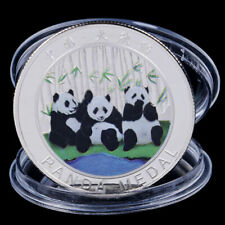 China 2019 1 Oz .999 Colored Silver Plated Commemorative Panda coin - Sealed&UNC