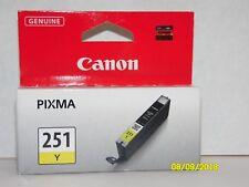 Genuine Canon 251 Yellow Pixma Chromalife Printer Ink Cartridge CLI-251Y