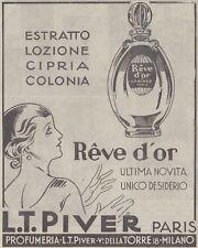 V0601 Reve d'Or - L.T. Piver Paris - Pubblicità d'epoca - 1931 old advertising