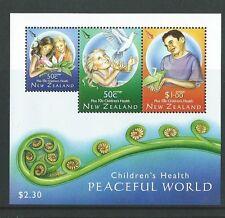 NEW ZEALAND 2007 CHILDRENS HEALTH MINIATURE SHEET UNMOUNTED MINT, MNH