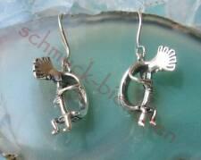 Ohrringe Ohrhänger Kokopelli Schamane Indianer Sterling Silber 925