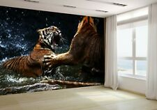 Tiger Attack to Other Tiger Wallpaper Mural Photo 6903984 budget paper