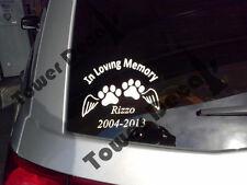In Loving Memory of Pet, Cat, Dog - Customizable Window, Bumper Vinyl Decal