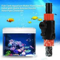 Aquarium Throttle Valve Water Hose Flow Control Fish Tank Hot Accessories O2B7