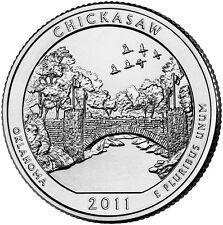 2011 P Chickasaw Oklahoma America the Beautiful BU Quarter from U.S. Mint Roll