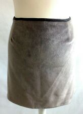 River island faux fur grey faux leather short skirt size 18